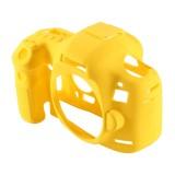 PULUZ Soft Silicone Protective Case for Canon EOS 5D Mark III (5D3) (Yellow)