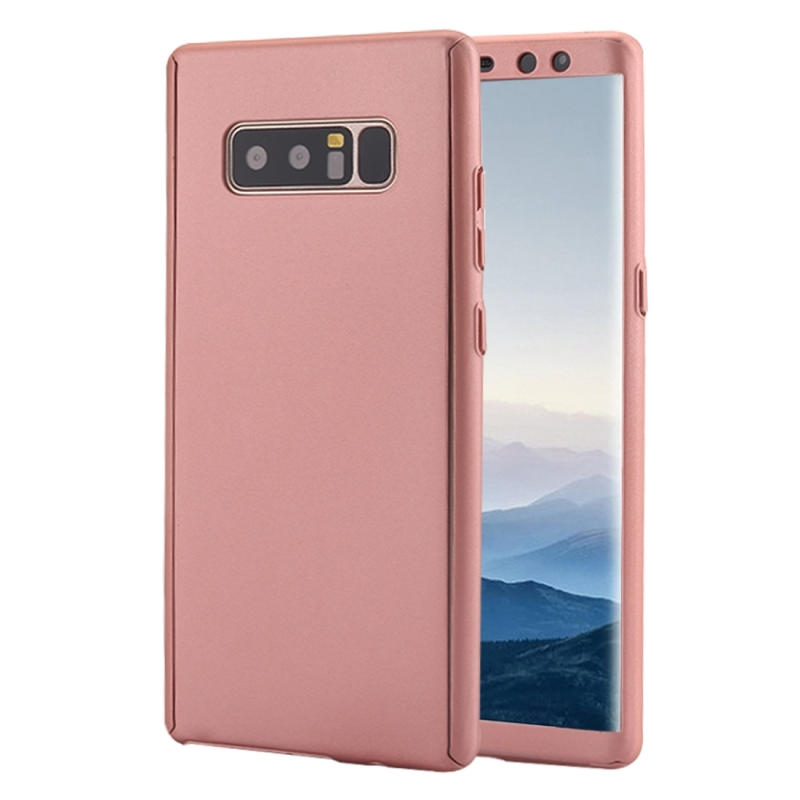 finest selection 3ec59 55128 For Samsung Galaxy Note 8 360 Degree Full Coverage Protective Case Back  Cover (Rose Gold)
