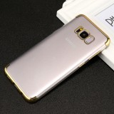 For Samsung Galaxy S8+ / G955 Three Sections Electroplating Side TPU Protective Back Cover Case (Gold)