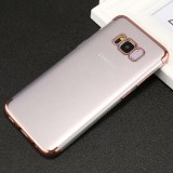 For Samsung Galaxy S8+ / G955 Three Sections Electroplating Side TPU Protective Back Cover Case (Rose Gold)