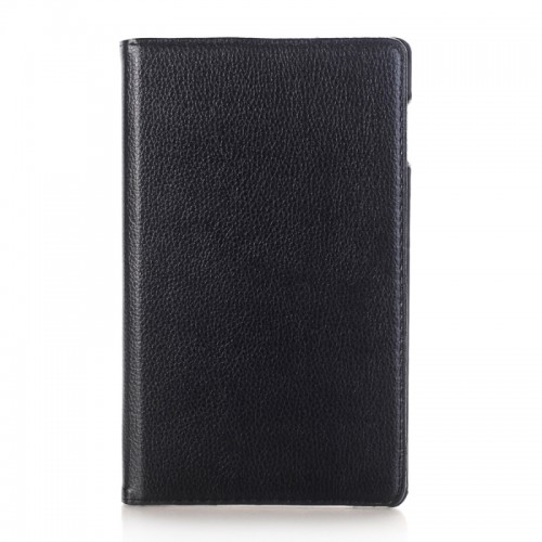 For Samsung Galaxy Tab A 8.0 (2017) / T380 / T385 Litchi Texture Horizontal Flip 360 Degrees Rotation Leather Case with Holder (Black)