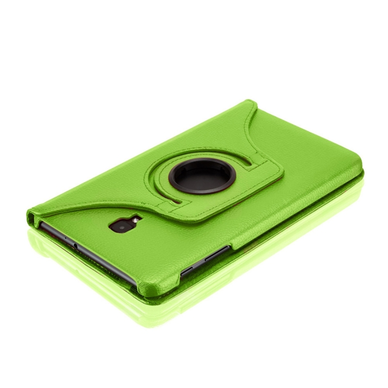 For Samsung Galaxy Tab A 8.0 (2017) / T380 / T385 Litchi Texture Horizontal Flip 360 Degrees Rotation Leather Case with Holder (Green)