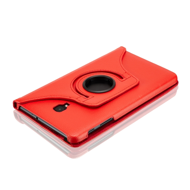 For Samsung Galaxy Tab A 8.0 (2017) / T380 / T385 Litchi Texture Horizontal Flip 360 Degrees Rotation Leather Case with Holder (Red)