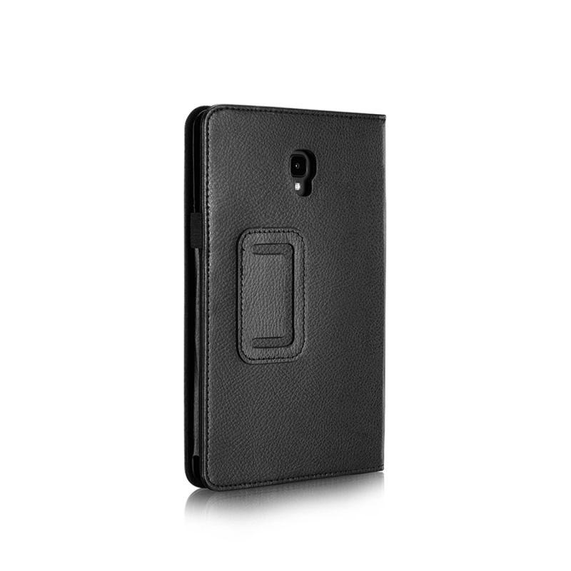 For Samsung Galaxy Tab A 8.0 (2017) / T380 / T385 Litchi Texture Horizontal Flip PU Leather Protector Case with Holder (Black)