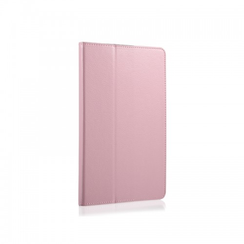 For Samsung Galaxy Tab A 8.0 (2017) / T380 / T385 Litchi Texture Horizontal Flip PU Leather Protector Case with Holder (Pink)