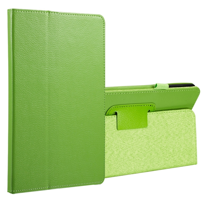 For Samsung Galaxy Tab A 8.0 (2017) / T380 / T385 Litchi Texture Horizontal Flip PU Leather Protector Case with Holder (Green)