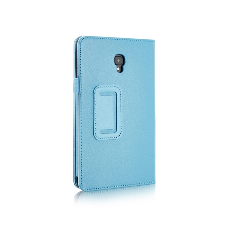 For Samsung Galaxy Tab A 8.0 (2017) / T380 / T385 Litchi Texture Horizontal Flip PU Leather Protector Case with Holder (Blue)