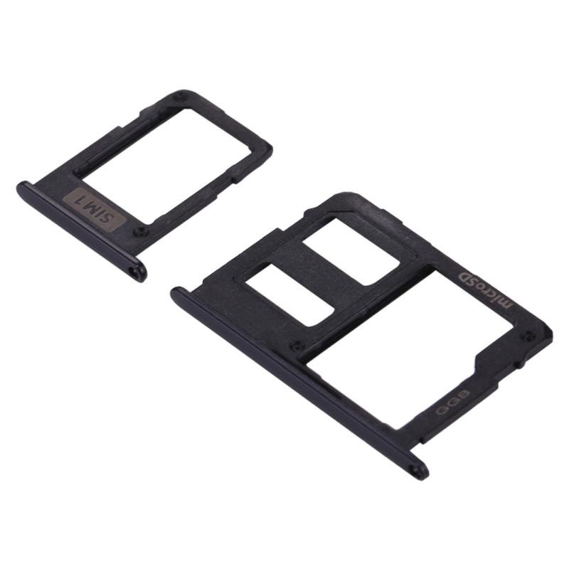 Replacement for Samsung Galaxy J3 (2017) Single SIM / J330 & J5 (2017) Single SIM / J530 & J7 (2017) Single SIM / J730 SIM Card Tray + Micro SD Card Tray (Black)