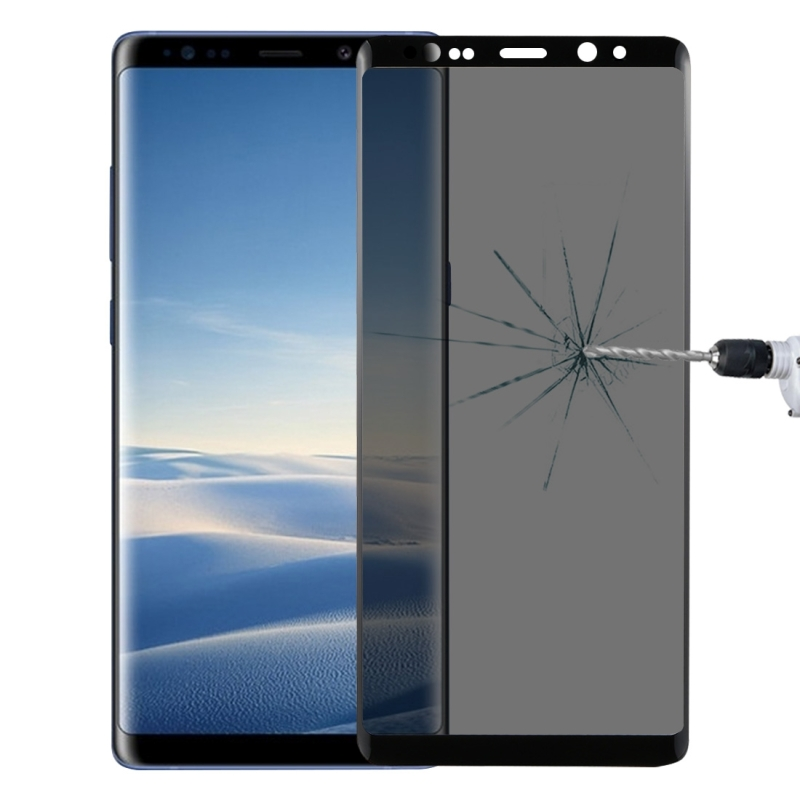 For Samsung Galaxy Note 8 0.26mm 9H Surface Hardness 3D Curved Privacy Anti-glare Full Screen Tempered Glass Screen Protector (Black)