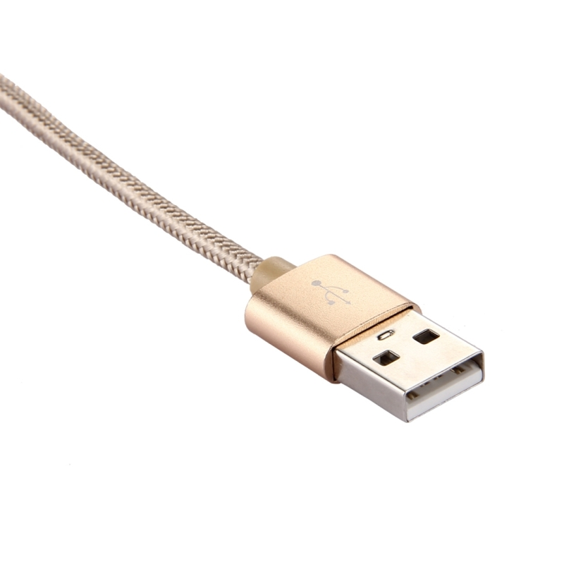 Knit Texture USB to USB-C / Type-C Data Sync Charging Cable, Cable 50cm, For Samsung Galaxy S8 & S8 + / LG G6 / Huawei P10 & P10 Plus / Oneplus 5 / Xiaomi Mi6 & Max 2 /and other Smartphones (Gold)