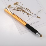 Universal 2 in 1 Multifunction Round Thin Tip Capacitive Touch Screen Stylus Pen, For iPhone, iPad, Samsung, and Other Capacitive Touch Screen Smartphones or Tablet PC (Gold)
