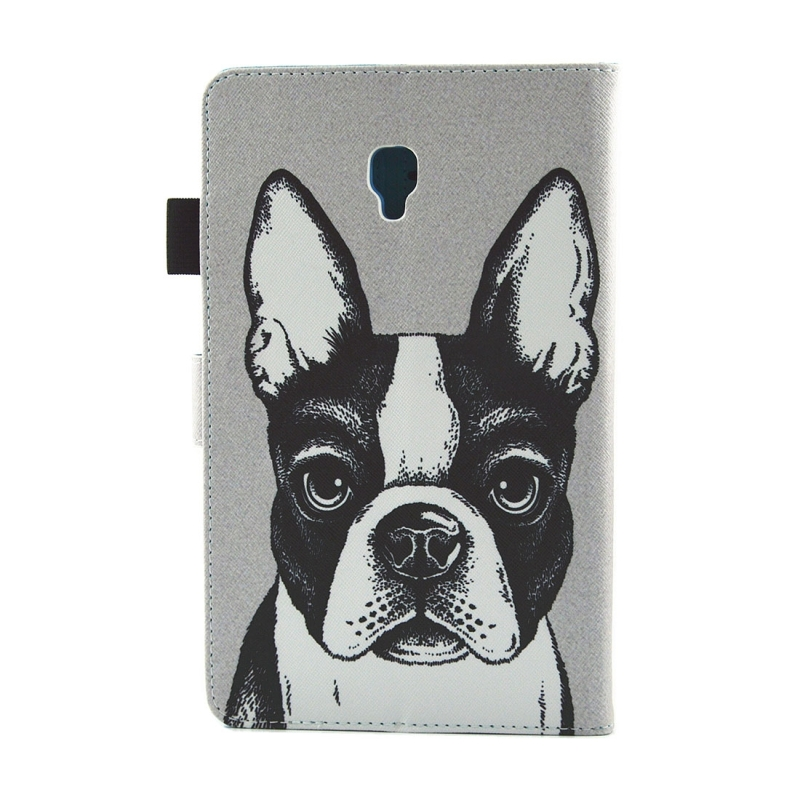 For Samsung Galaxy Tab A 8.0 / T380 & T385 Bulldog Pattern Horizontal Flip Leather Case with Holder & Card Slots