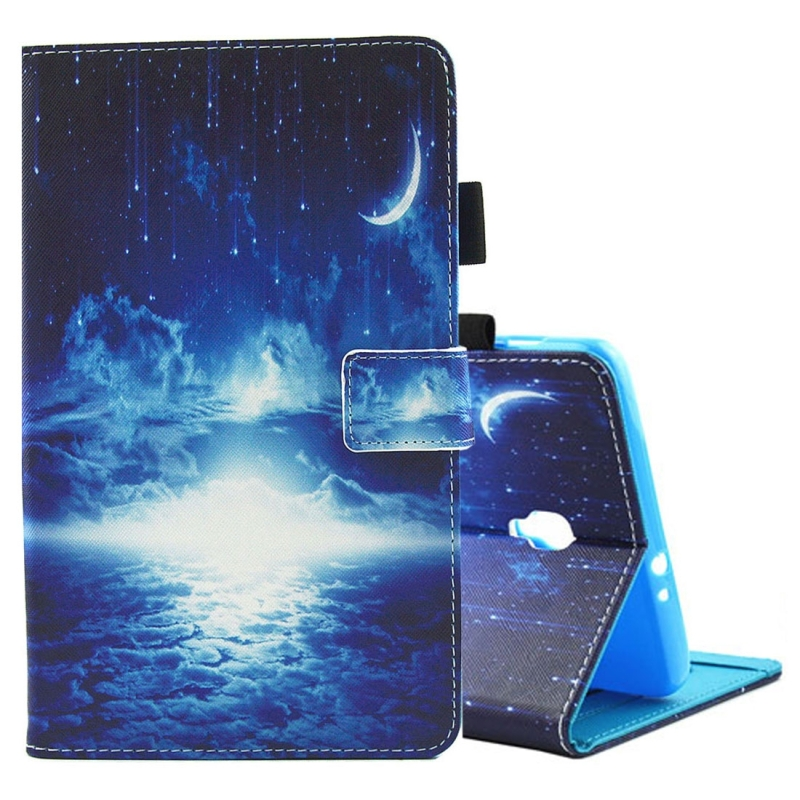 For Samsung Galaxy Tab A 8.0 / T380 & T385 Night Sky Pattern Horizontal Flip Leather Case with Holder & Card Slots