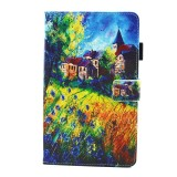 For Samsung Galaxy Tab A 8.0 / T380 & T385 Countryside Pattern Horizontal Flip Leather Case with Holder & Card Slots