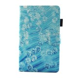For Samsung Galaxy Tab A 8.0 / T380 & T385 Diamond Pattern Horizontal Flip Leather Case with Holder & Card Slots