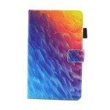 For Samsung Galaxy Tab A 8.0 / T380 & T385 Colorful Polygons Pattern Horizontal Flip Leather Case with Holder & Card Slots