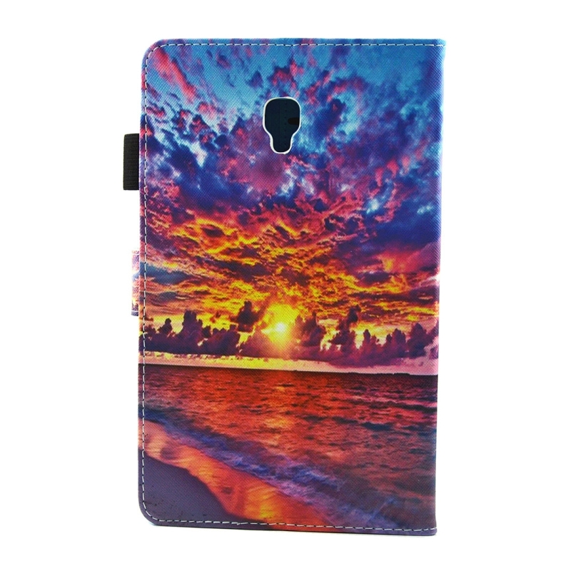 For Samsung Galaxy Tab A 8.0 / T380 & T385 Sunset Landscape Pattern Horizontal Flip Leather Case with Holder & Card Slots