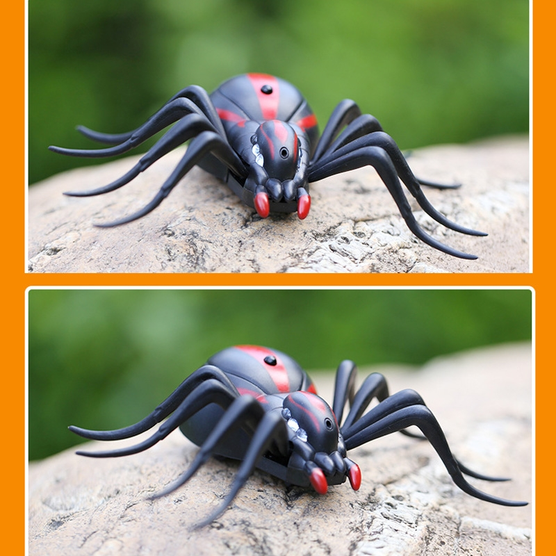 Tricky Funny Toy Infrared Remote Control Scary Creepy Spider, 16*10cm