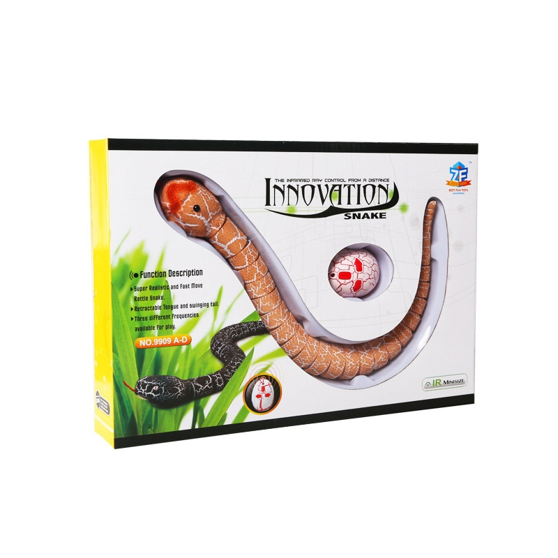 Tricky Funny Toy Infrared Remote Control Scary Creepy Snake, 38*3.5cm (Orange)