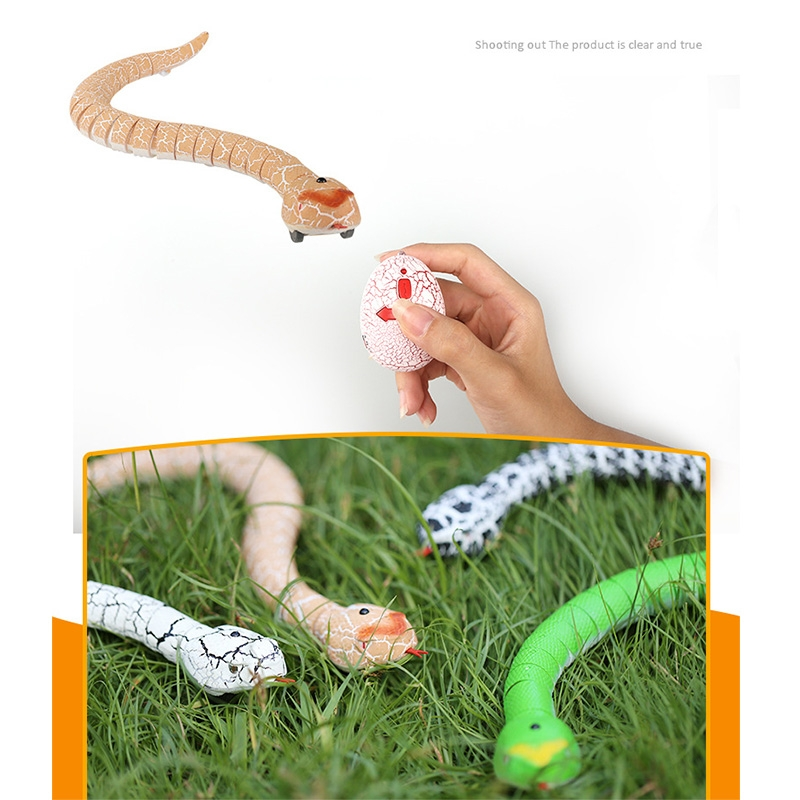 Tricky Funny Toy Infrared Remote Control Scary Creepy Snake, 38*3.5cm (Green)