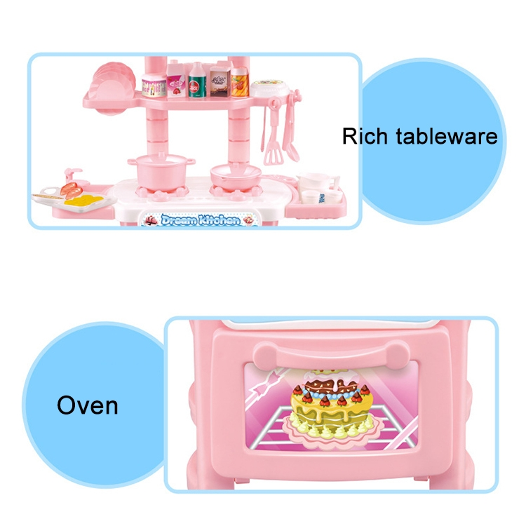 Family role playing toy simulation kitchen supplies for Kitchen set toy kingdom