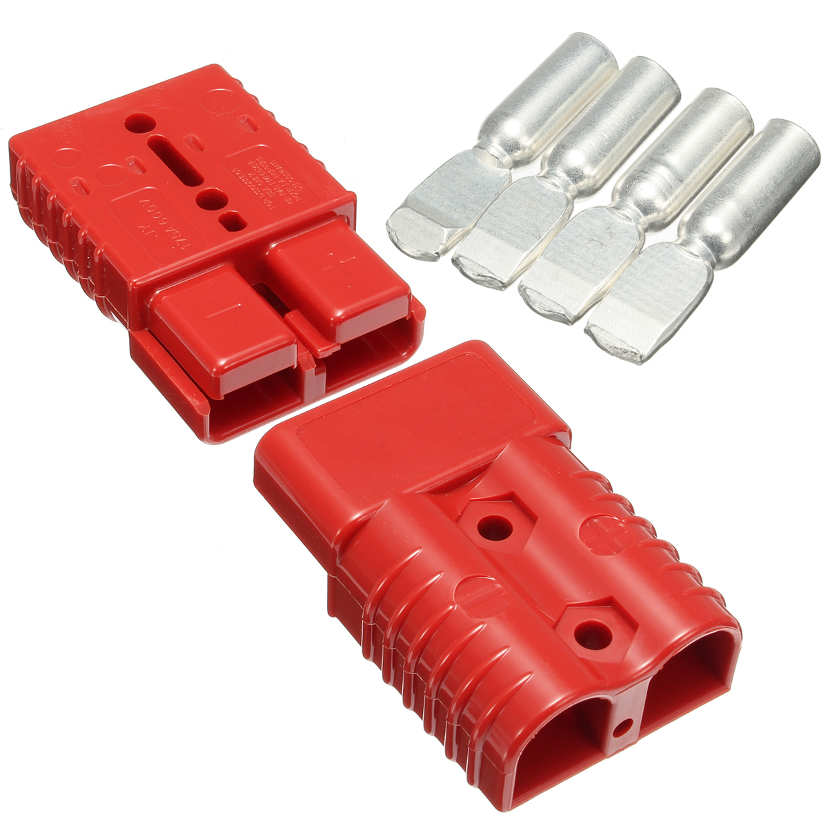 175 AMP Battery Connector Jump Start Slave Assist Pair RED ...