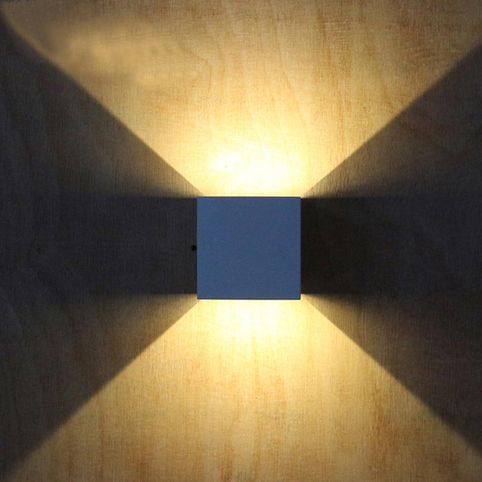 Loskii DX-CT1 AC 220V Waterproof 7W Aluminum Cube COB LED Wall Lamp ...