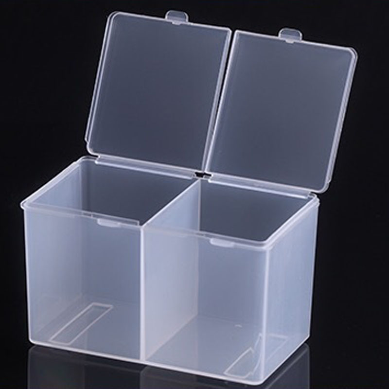 Clear Cotton Pads Container Cosmetic Organizer Nail Art Makeup ...