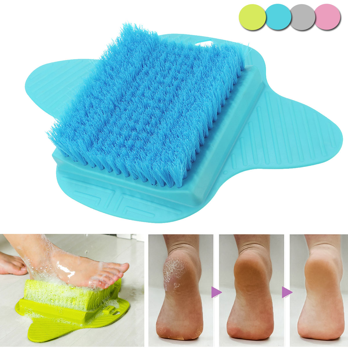 Honana BB-064 Bath Foot Cleaner Scrub Brush Exfoliating Feet ...