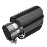 63mm Inlet Universal Glossy Carbon Fiber Car Exhaust Pipe Tail Muffler End Tip