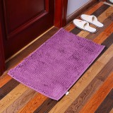 KCASA KC-333 40x60cm Chenille Fine Hair Soft Mat Machine Washable Bathroom Anti Slip Absorbent Carpet Door Mat