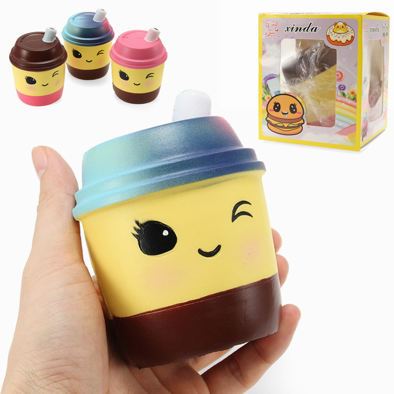 Xinda Squishy Milk Tea Cup 10cm Soft Slow Rising With Packaging Collection Gift Decor Toy Alex NLD