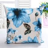 Honana WX-D6 45x45cm Vintage Leaves Flower Bamboo Linen Throw Pillow Case Waist Cushion Cover