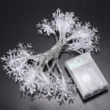 Battery Powered 20LEDs Snowflake Shaped Fairy String Light for Christmas Wedding Party DC4.5V