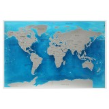 Travel World Scratch Map Ocean Scratch Off Foil Layer Coating World Deluxe Scratch Map 59.4×82.5CM