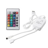 24 Keys Remote Control Music Activated Controller for RGB LED Strip Light DC5-12V