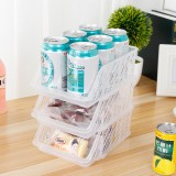 KCASA KC-RO03 1Pc Stackable Adjustable Refrigerator Fridge Organizer Holder Drawer Storage Drawer