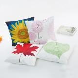 Honana WX-D7 45x45cm Silk Soft Vintage Leaves Flower Throw Pillow Case Waist Cushion Cover