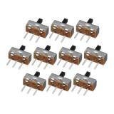 500pcs SS12d00G4 2 Gear 3 Pin Toggle Switch Slide Switch Interruptor On-Off Horizontal Handle Type Handle Length 4mm