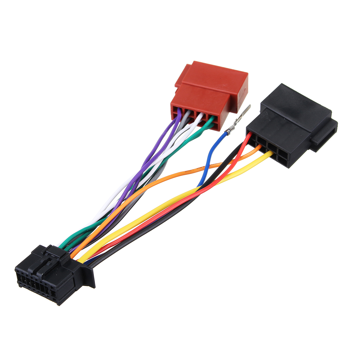 car stereo radio player iso wiring harness connector 16pin. Black Bedroom Furniture Sets. Home Design Ideas