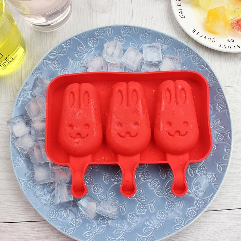 Creative Silicone Ice Cream Mold Ice Lolly Mold Rod Ice Mold Red Food Grade