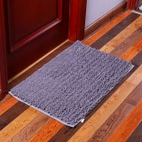 KCASA KC-332 40x60cm Chenille Mixed Hair Soft Mat Machine Washable Bathroom Anti Slip Absorbent Carpet Door Mat
