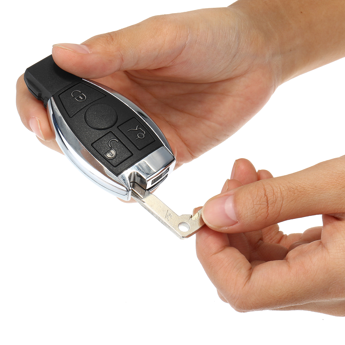 433mhz car 3 buttons remote key entry transmitter bga chip for Mercedes benz remote start instructions