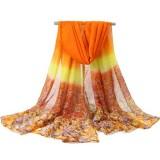 Women Printing Chiffon Scarves Shawls Casual Outdoor Soft Scarf