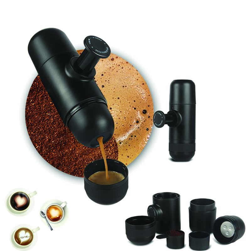 KCASA KC-COFF20 Portable Manual Coffee Maker Hand Espresso Maker Mini Coffee Machine Coffee Pot Outdoor Travel design