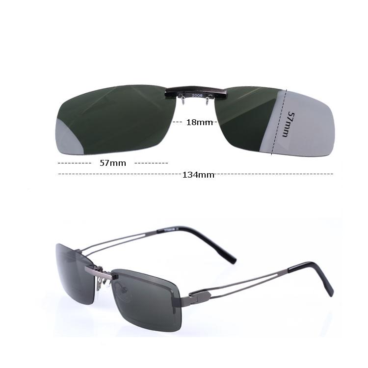BIKIGHT Polarized Clip On Sunglasses Men Driving Night Vision Lens Sunglasses Male Anti-UVA UVB