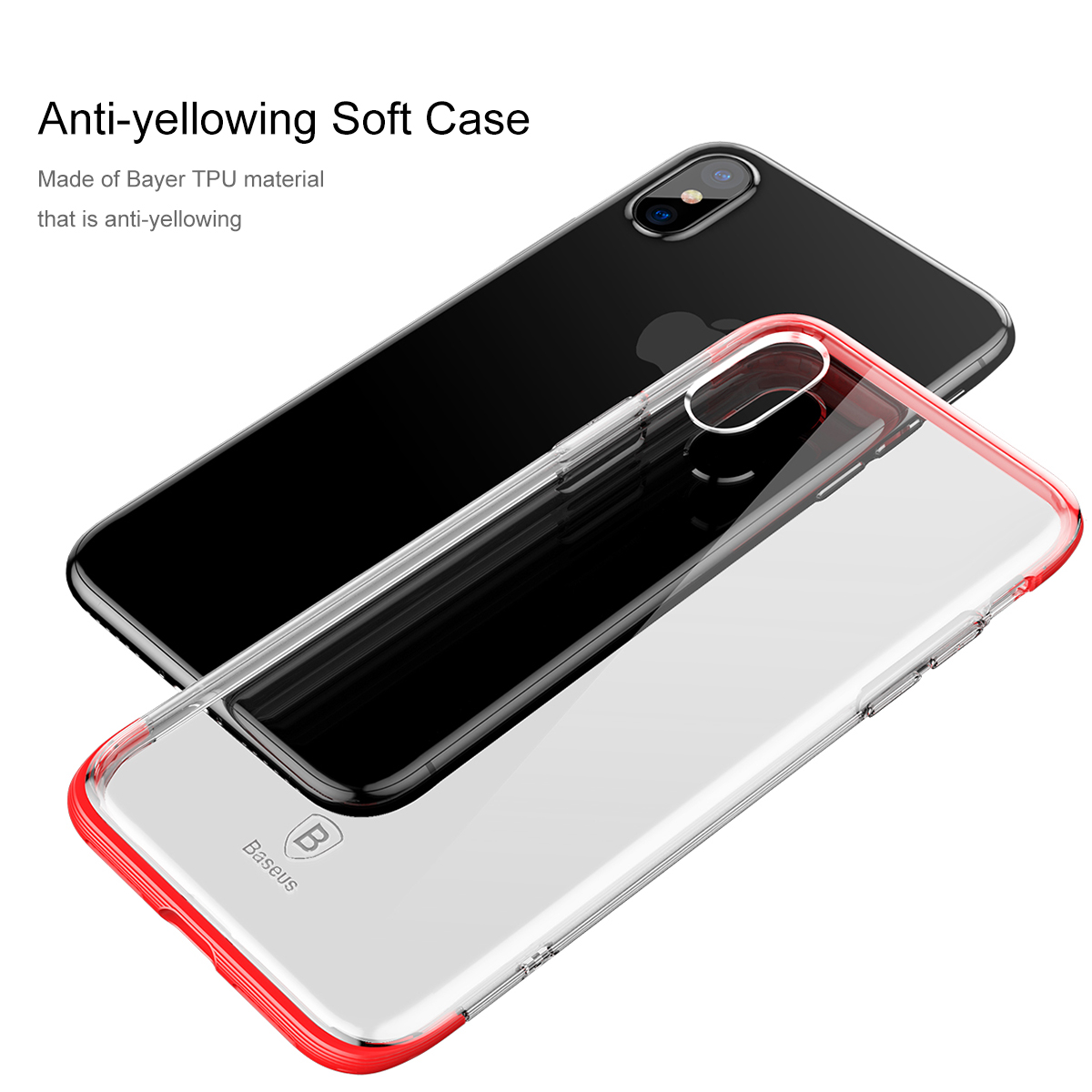 superior quality c7e94 ab236 Baseus Armor Anti Yellow Ultra Thin Clear Soft TPU Case for iPhone X