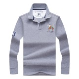 Spring Autumn Men's Fashion Embroidery LOGO POLO Shirt Casual Business Lapel Long Sleeve T-shirt