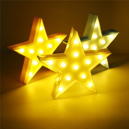 cute led five pointed star night light for baby kids bedroom home decor. Black Bedroom Furniture Sets. Home Design Ideas