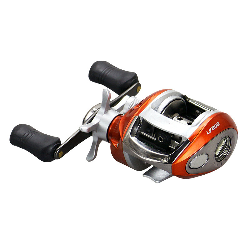 ZANLURE 6.2:1 12+1BB Stainless Steel Baitcasting Fishing Reel Left / Right Water Drop Fishing Wheel